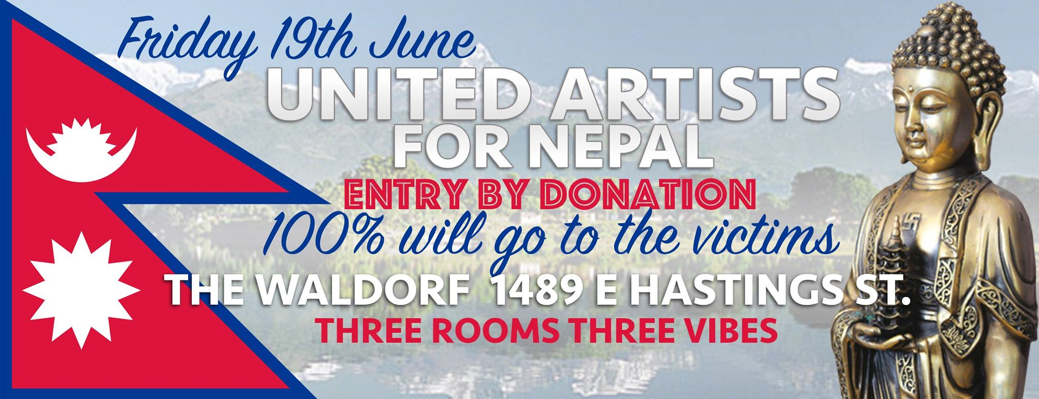 United Artist for Nepal Event in Vancouver with Miss KosmiK