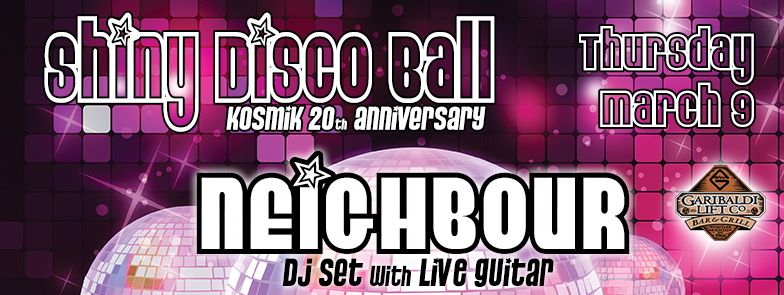 Shiny Disco Ball with Neighbour LIVE at GLC