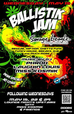 BallistiK Reggae at Savage Beagle May 15th 2013