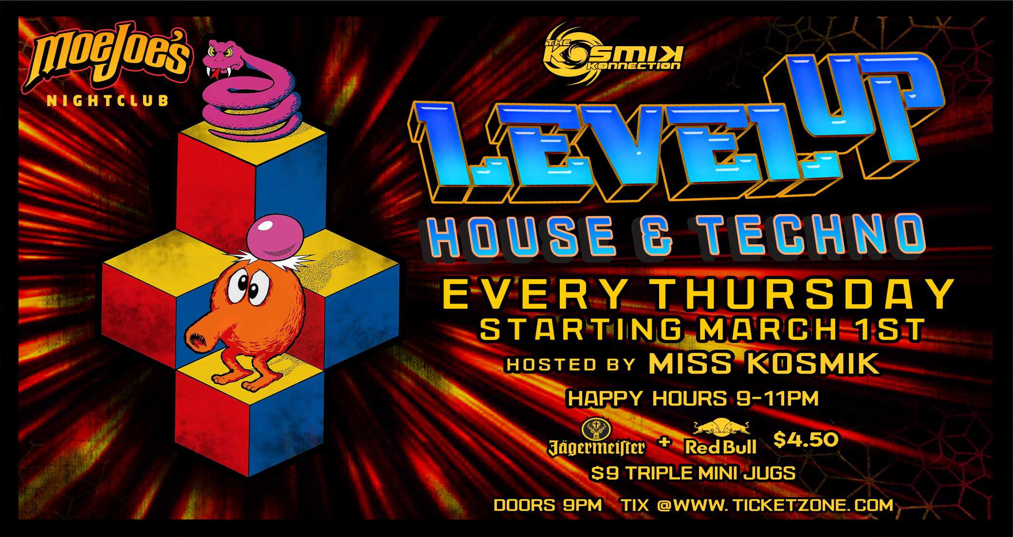 Moe Joes House & Techno Night Level Up