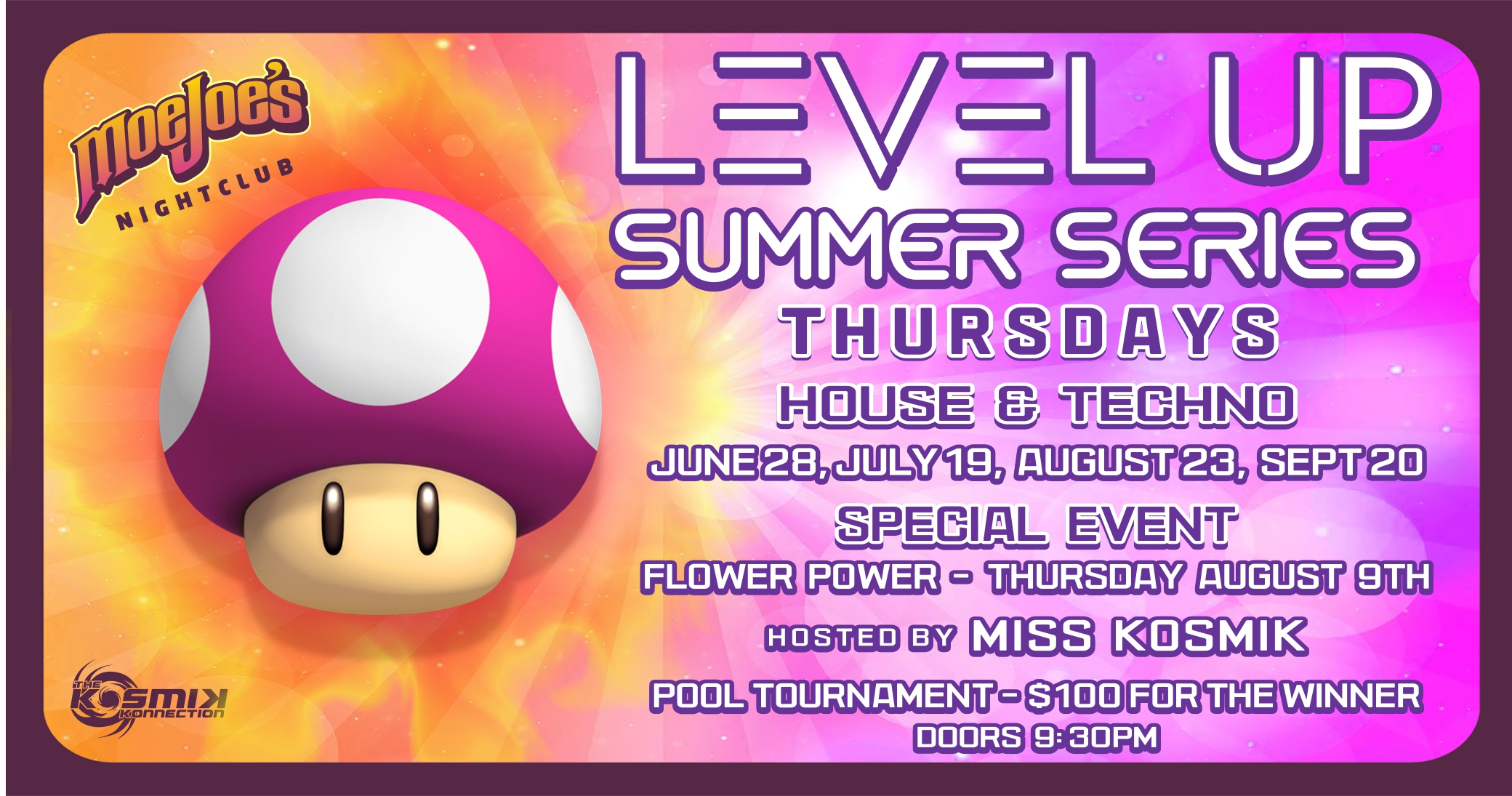 Level Up House Music Whistler Party Moe Joes