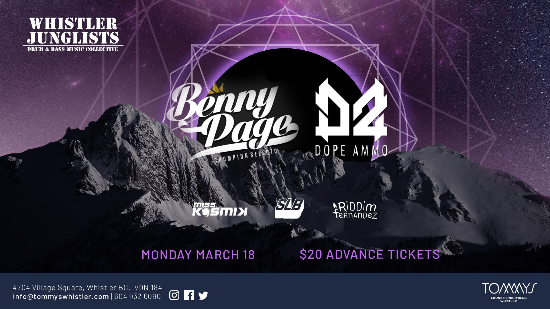 Benny Page and Dope Ammo come to Tommys Whistler