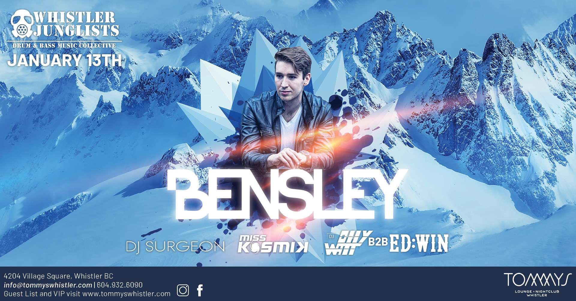 Bensley at Tommys Whistler January 12, 2020